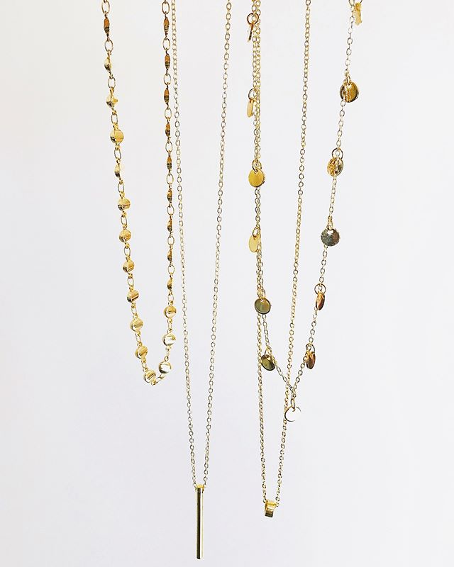 Everyday essentials  ____  #emilysongdesigns #newcollection #designs #gold #jewelry #handmade #etsy #squarespace #jewelry #retail #shopsmall #shopsmallbusiness #custom #customize #personalize #personal #newyear #newyearnewyou #2019 #thelayeredlook #layer #layered #layerednecklaces