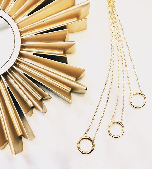 The Kathleen - otherwise known as The Kathy #goforgold  ____  #emilysongdesigns #fall #fallcollection #fallfashion #thelayeredlook #layer #gold #jewelry #handmadejewelry #necklace #earrings #hoops #fashion #fashionweek #simple #smallbusiness #squarespace #taptoshop #ootd #jotd #jewelry