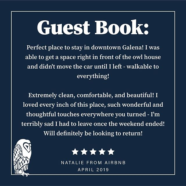 We love reading our guest book! You all are the best renters our there 💗 Truth is… we know the Owl House is fabulous, but don't take it from us - take it from the reviewers🦉Summer weekends are booking up so take advantage while you can!