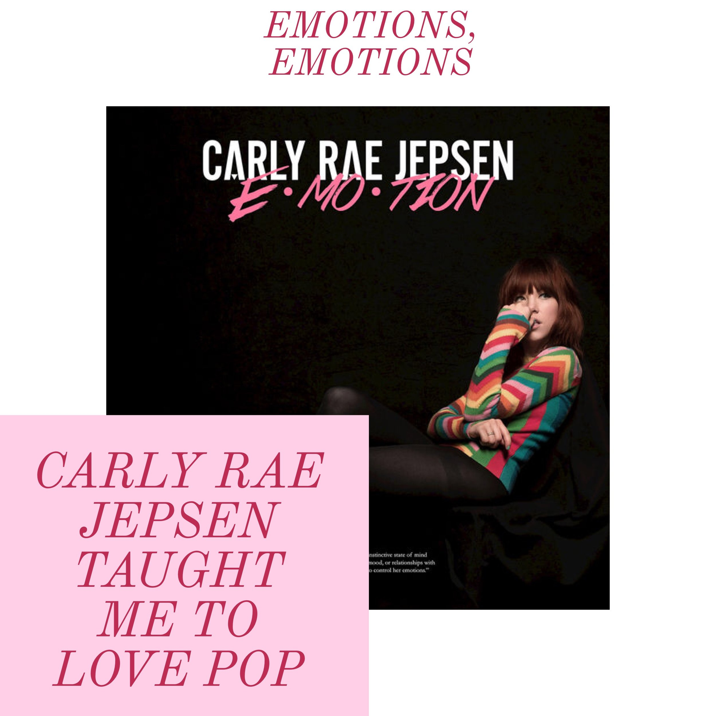 Image rights to Carly Rae Jepsen. Edit done on Adobe Spark.