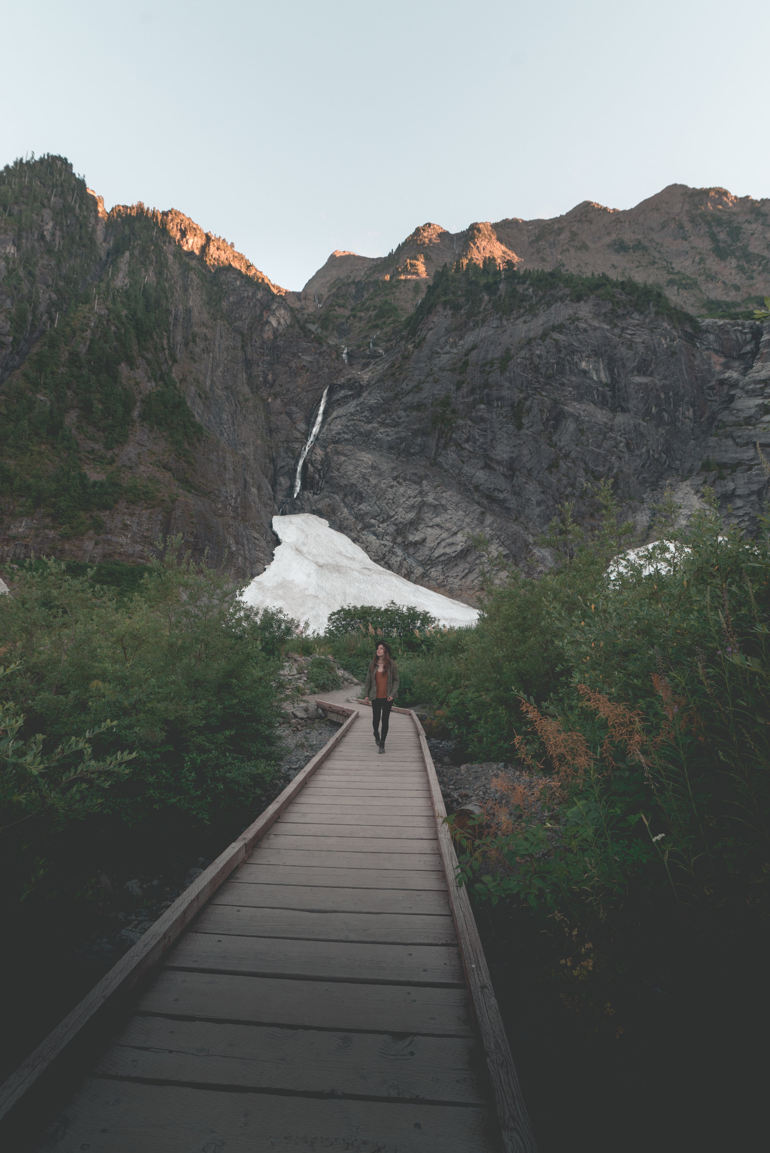 @bayleyjunes walking down the boardwalk at the ice caves in Washington. ISO 1000, f/8, 1/100