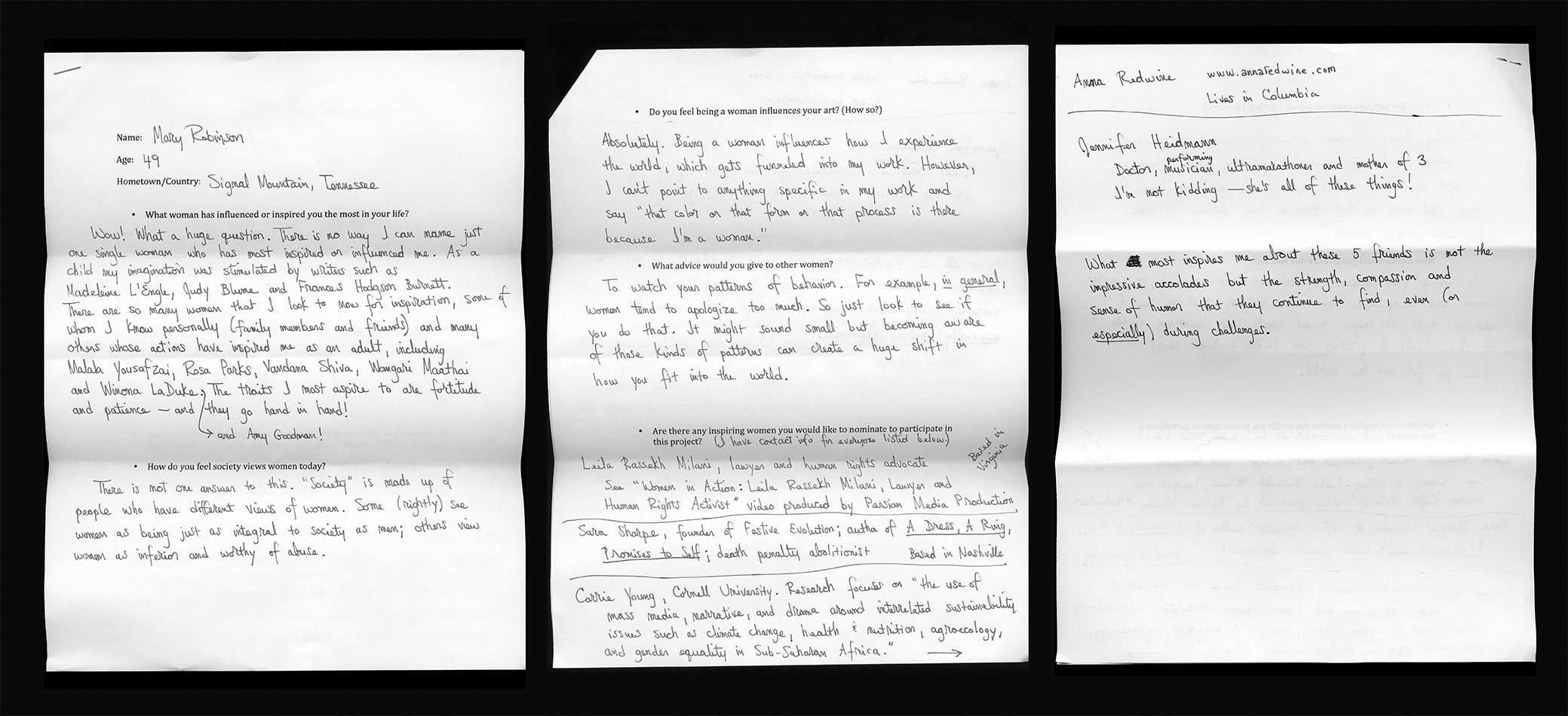 Mary Robinson Text © Ashley Kauschinger