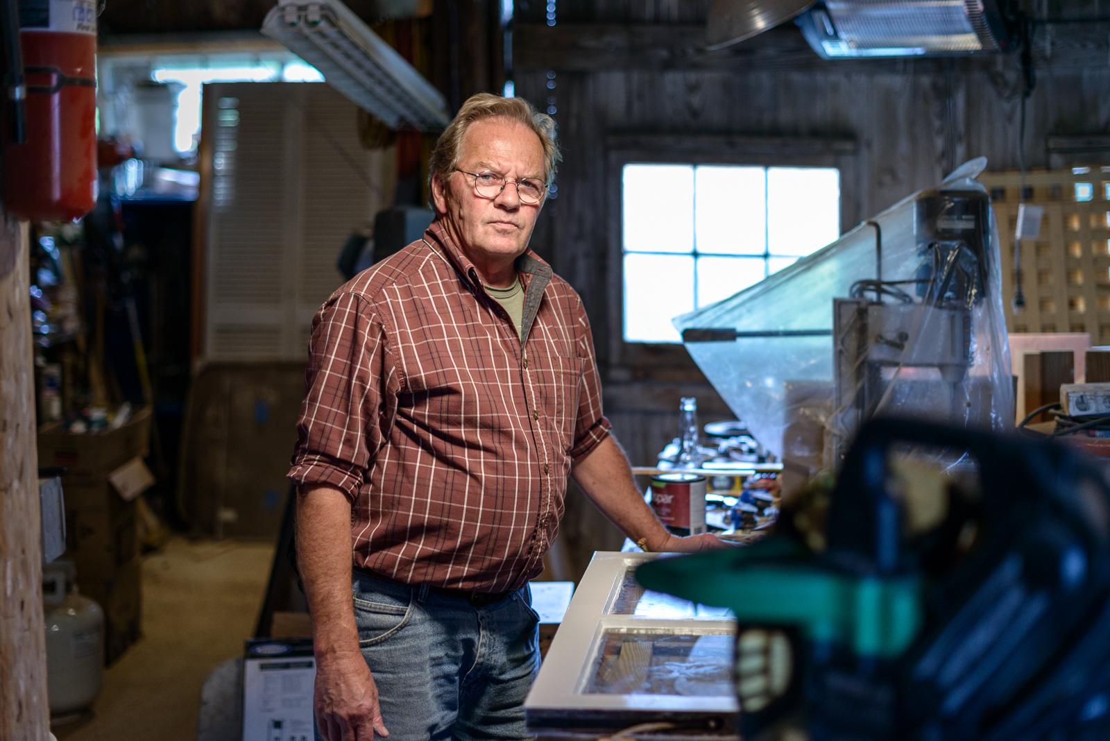 Tim in his Workshop, Waterford, Virginia, 2015 © Nate Larson