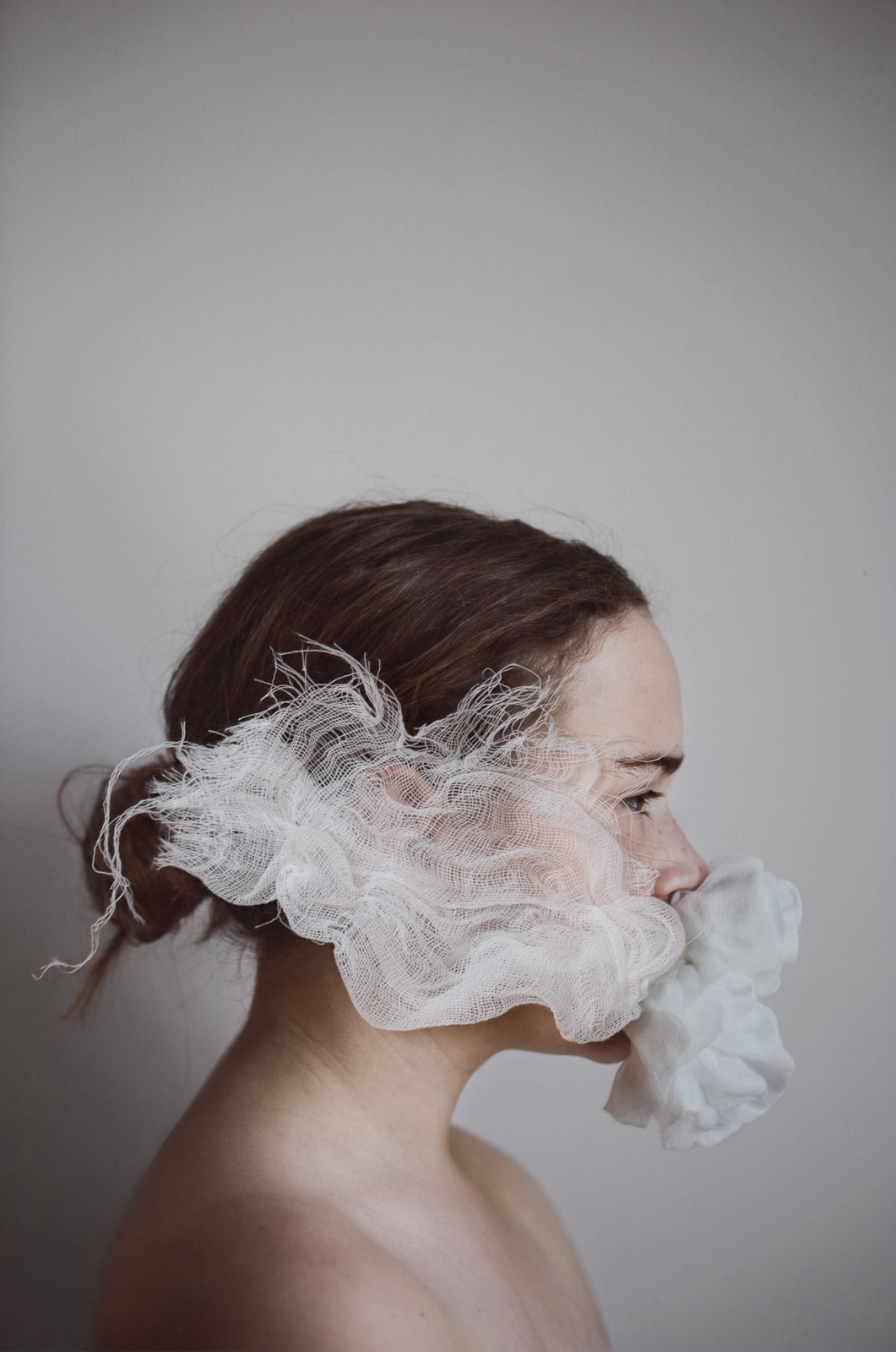 Fluff  © Anne-Laure Autin(Pigment ink print, hand-stitched gauze)