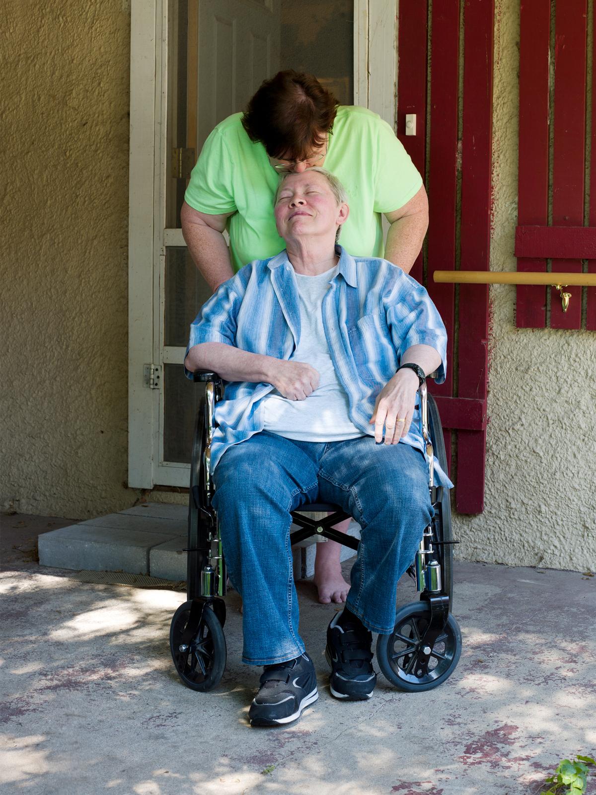 Debbie, 61, and Danny, 66, St. Joseph, MO,  2015 © Jess T. Dugan