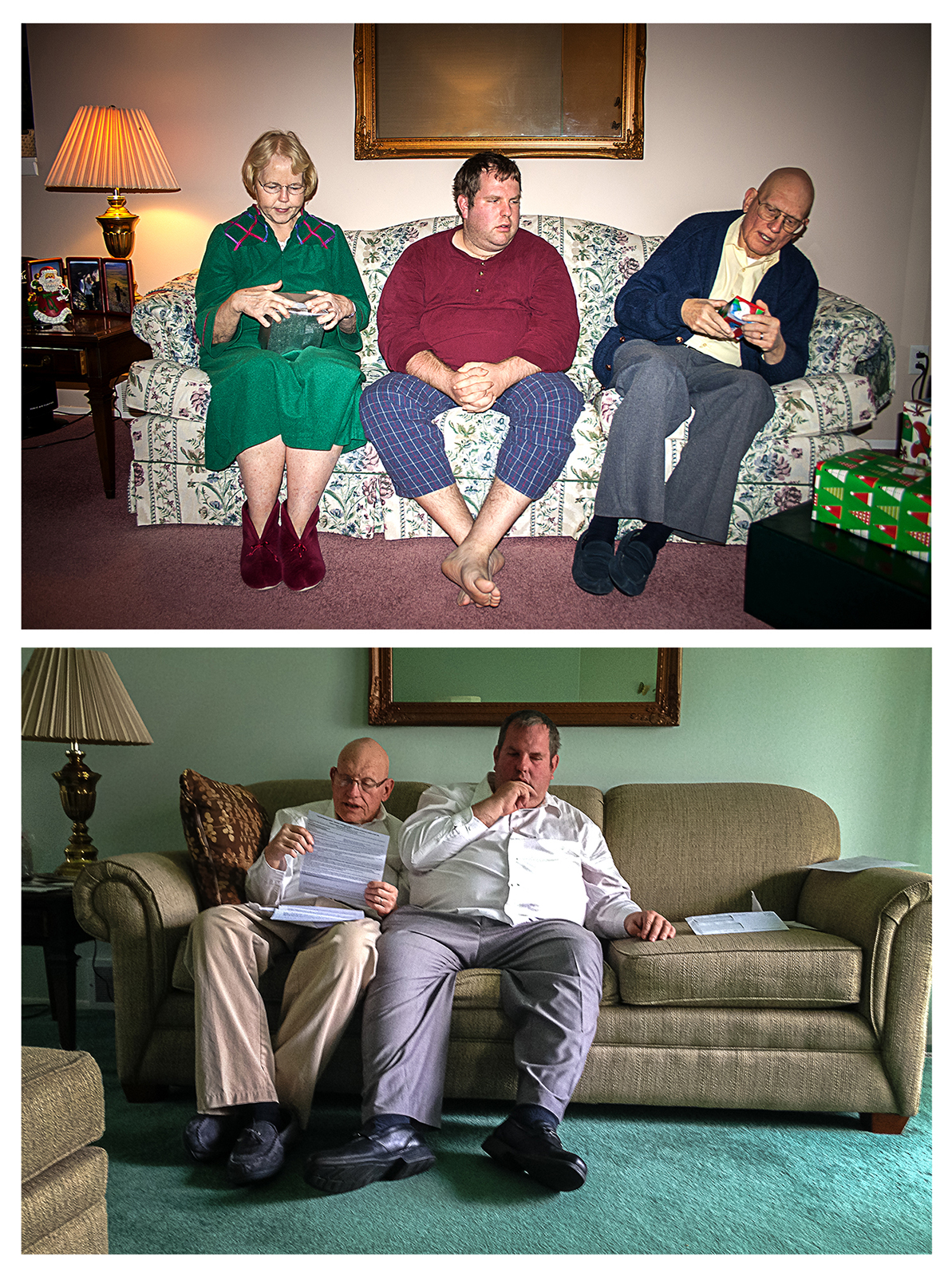 7am – Living Room Couch 2006/2016  ©   Chris Ireland