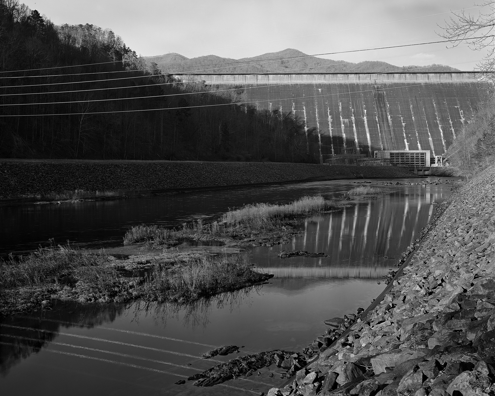 Fontana Dam (downstream) Little Tennessee River  2012
