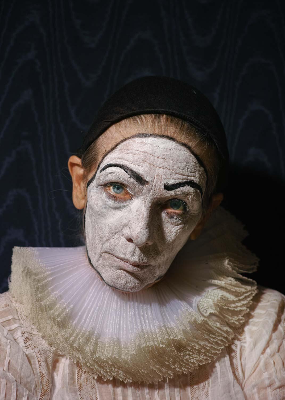 Mom as Pierrot, 2018 ©  Elizabeth Hibbard