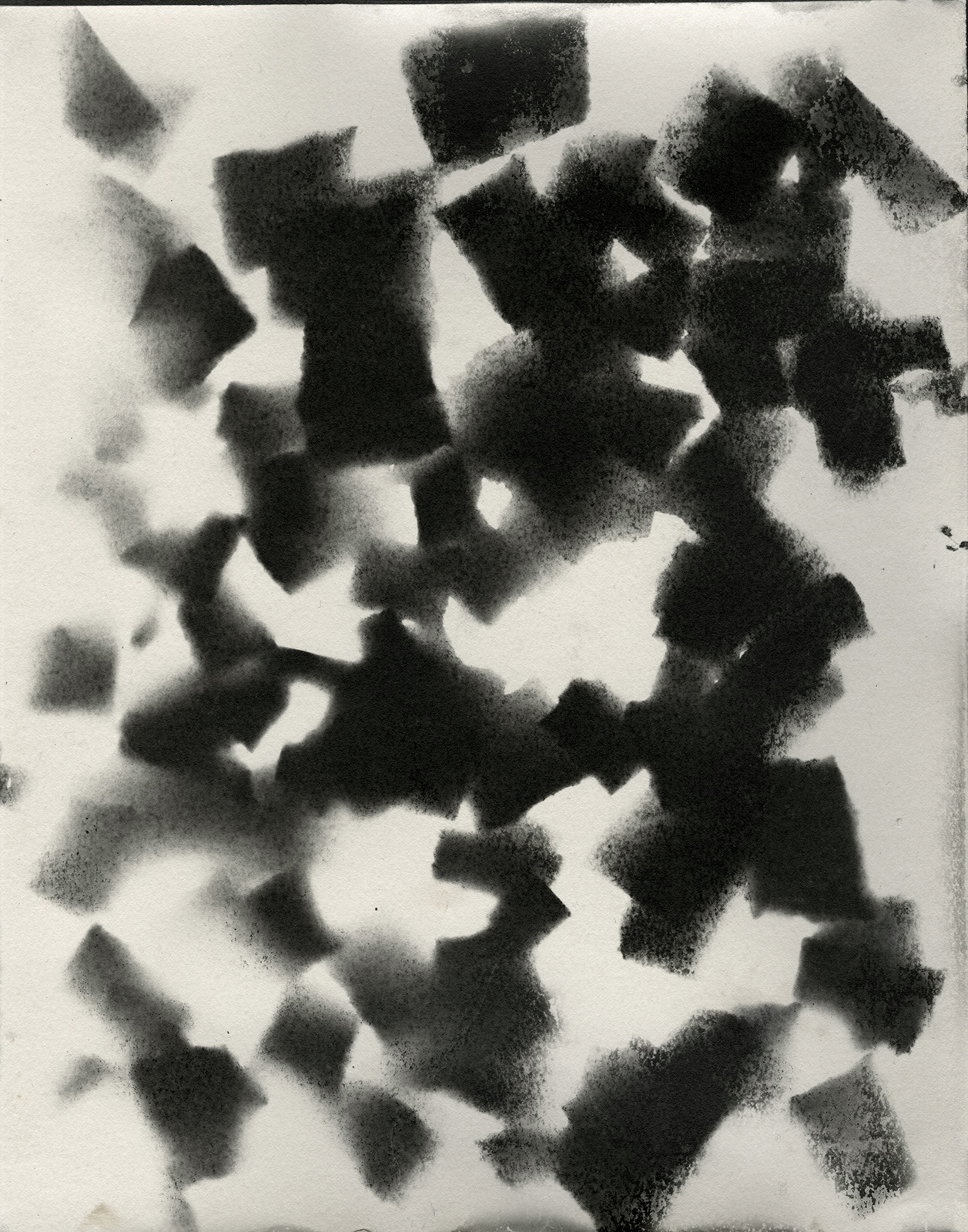 Positive photograph of torn print from original photogram ,  Unique gelatin silver photograph,  11 x 14 inches  Year: 2018