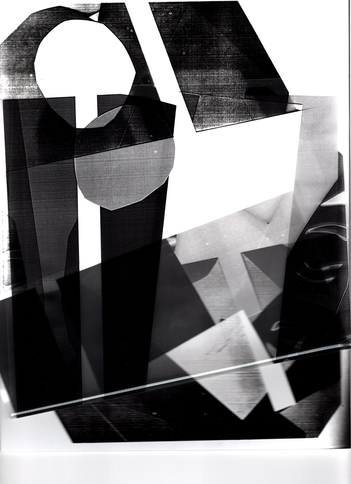 From digital to silver and then back again, flatbed photogram ,  Gelatin silver photograph, transparency film print,  8.5 x 11.7 inches  Year: 2019