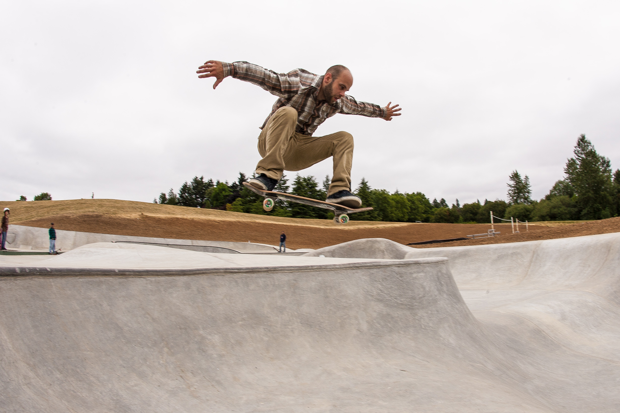 Once the fencing came down, Ben Krahn was amongst the first of Portland's skateboarders to enjoy varied terrain of Gabriel Park's skatepark.