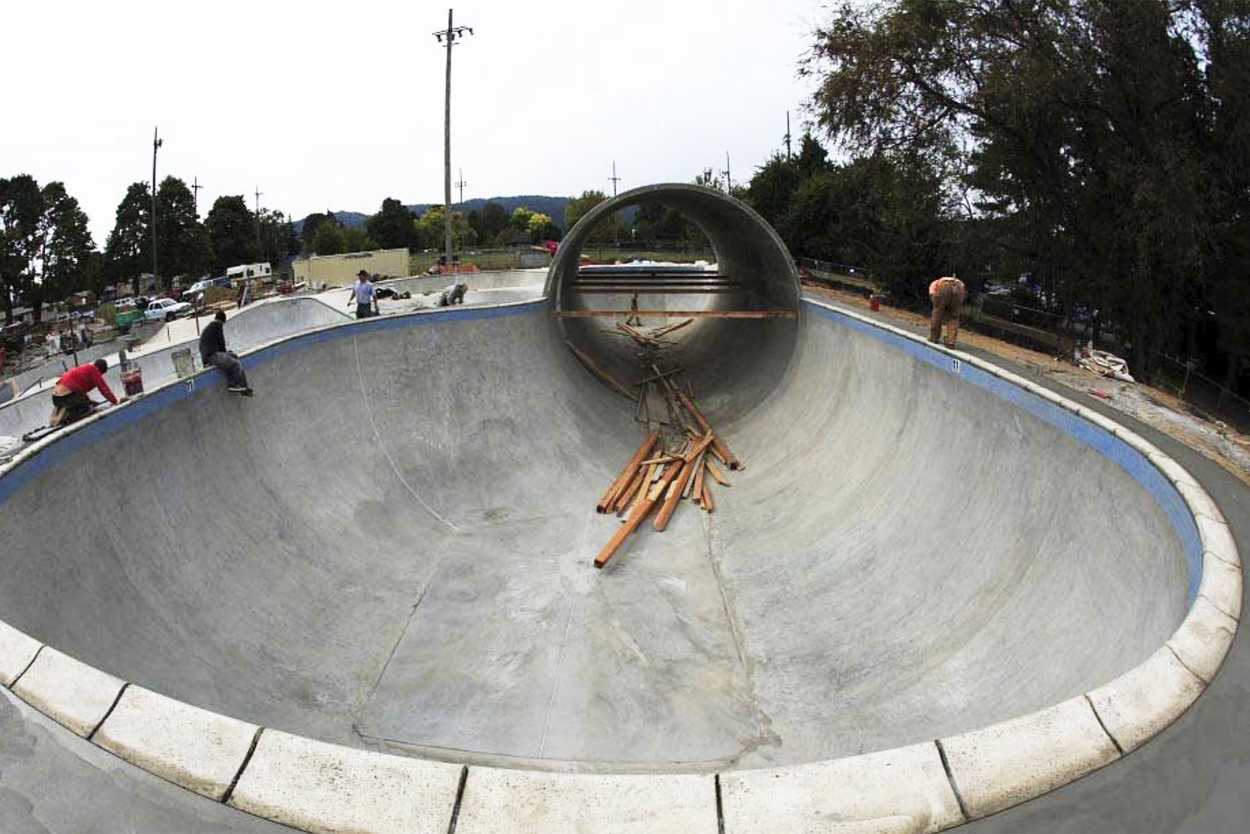 Pier Park's iconic pipe and 11 1/2 deep bowl nears completion and opening day.