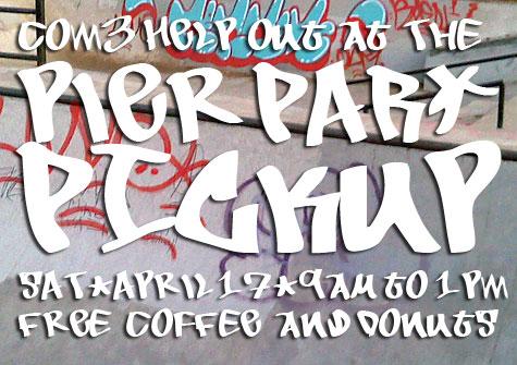 Online flyer to promote SPS' cleanup of Pier Park skatepark