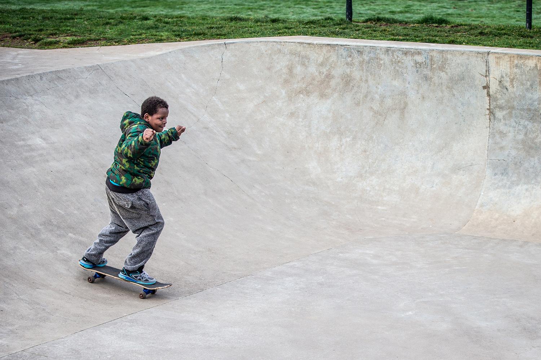 Glenhaven Skatepark's street area has plenty of room for multiple users.