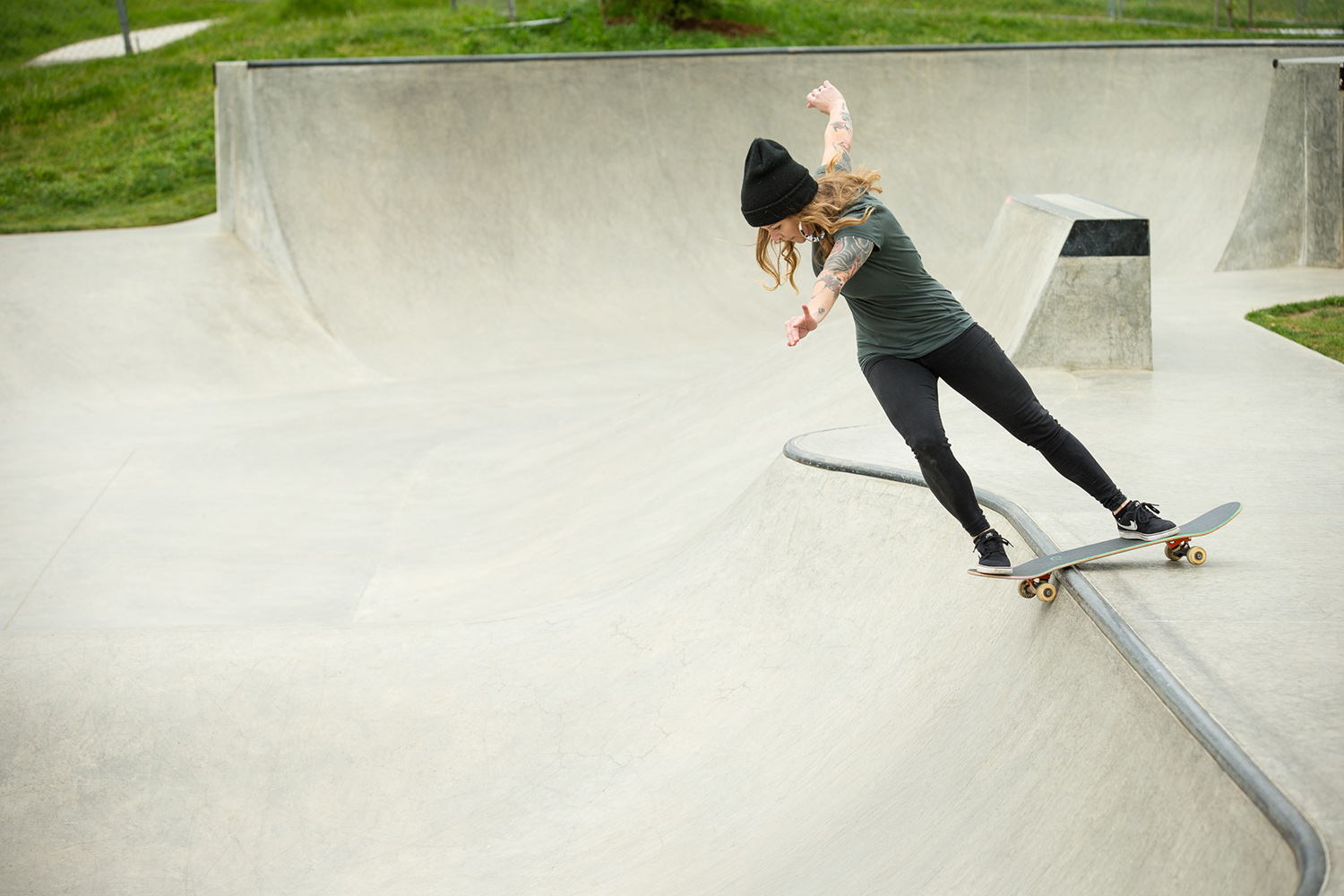 Lindsay Jo Holmes rocks out at the Luuwit Skate Spot.