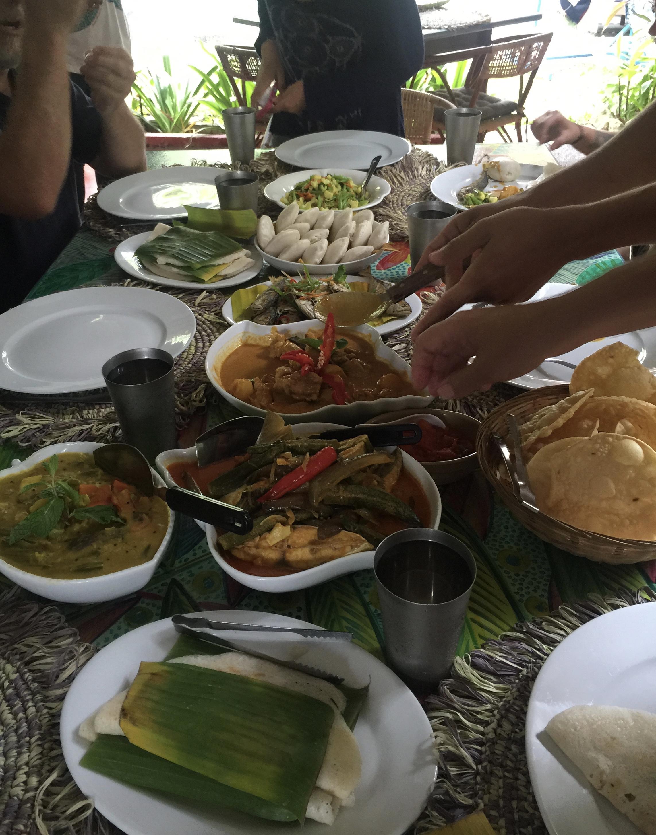 Family bonding over wonderful food!