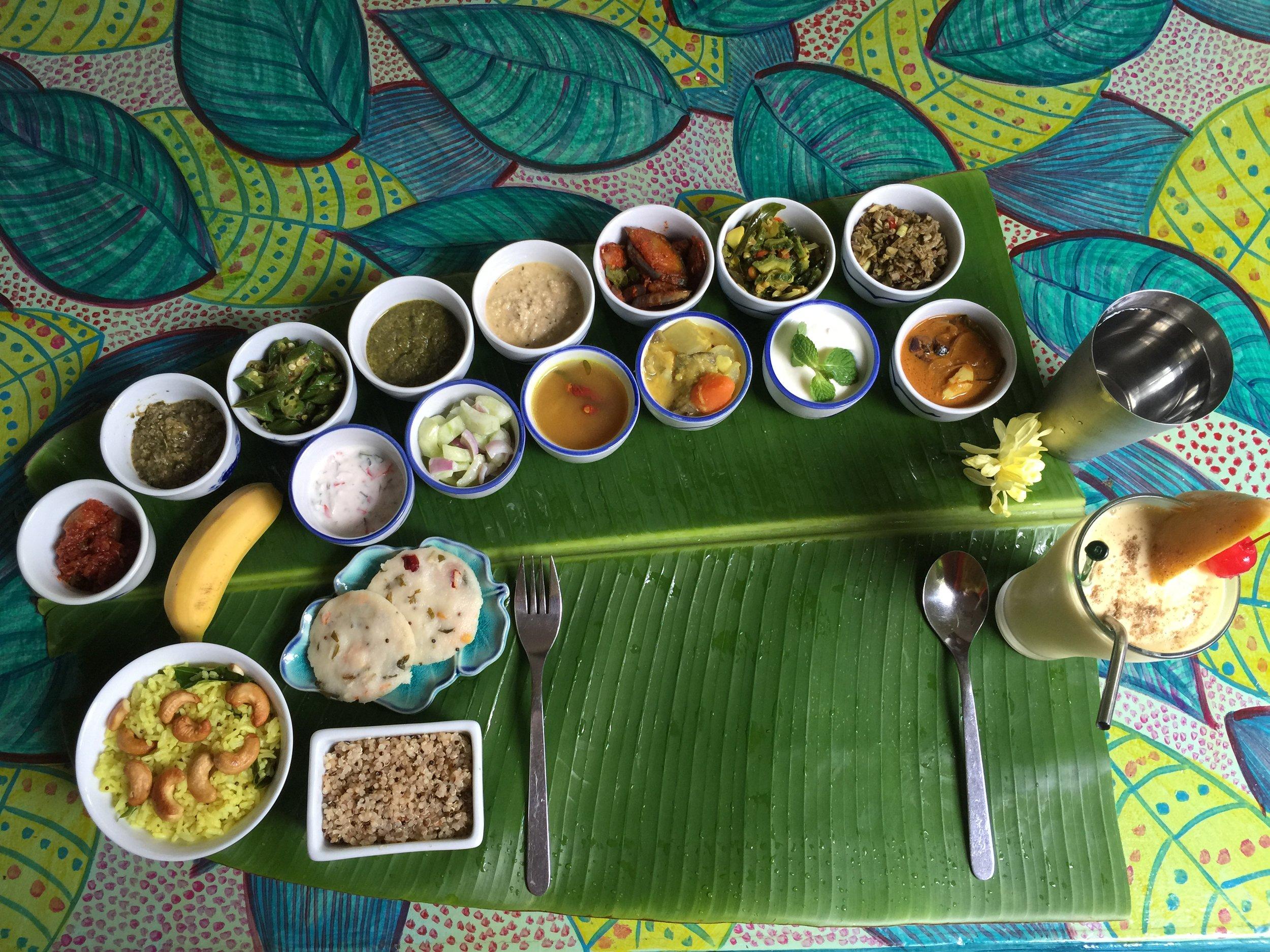 An amazing ayurvedic & vegan lunch.