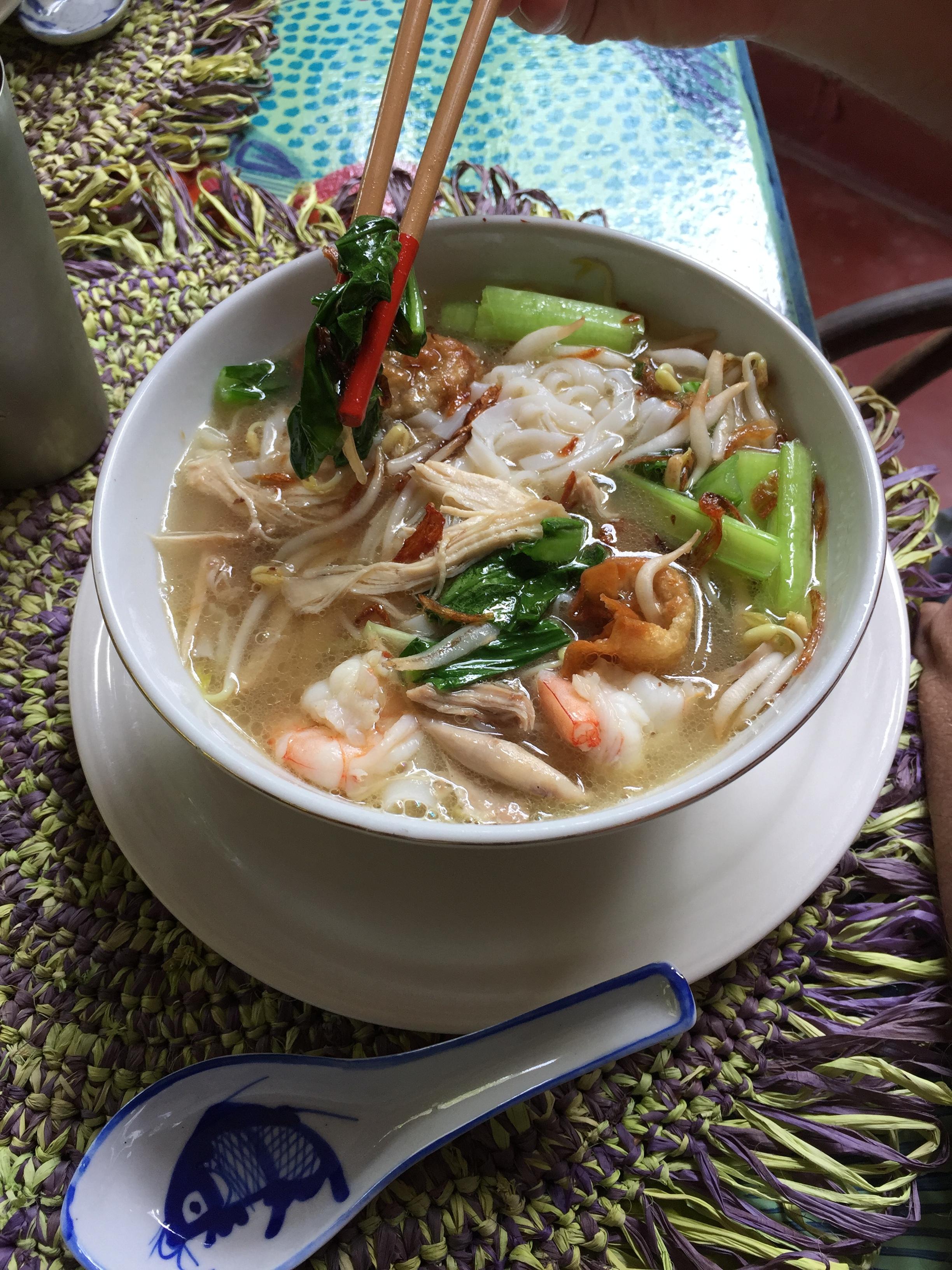 Kuey Teow soup.