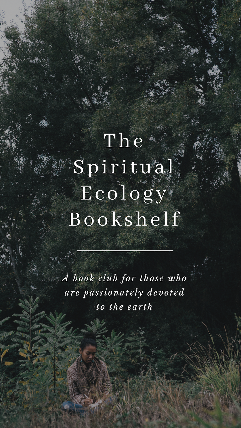 Welcome to the Spiritual Ecology Book Shelf! - This book club has been in the making for the last two years, and I am so excited that it is finally coming into fruition! Thank you for answering the call and being interested in reading alongside me in the quiet yet blossoming field of Spiritual Ecology. Together we will be diving into the works of authors who are weaving together stories of spirit and nature, and exploring through group dialogue and writing what makes us feel connected to the earth, ourselves and our communities. Below is some information and details on how to participate! I look forward to connecting more through the coming months.