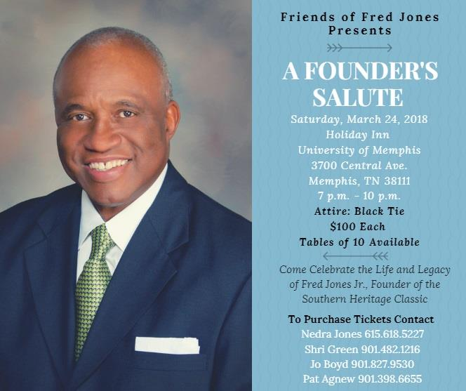 Come celebrate the life and legacy of Fred Jones Jr., founder of the Southern Heritage Classic.