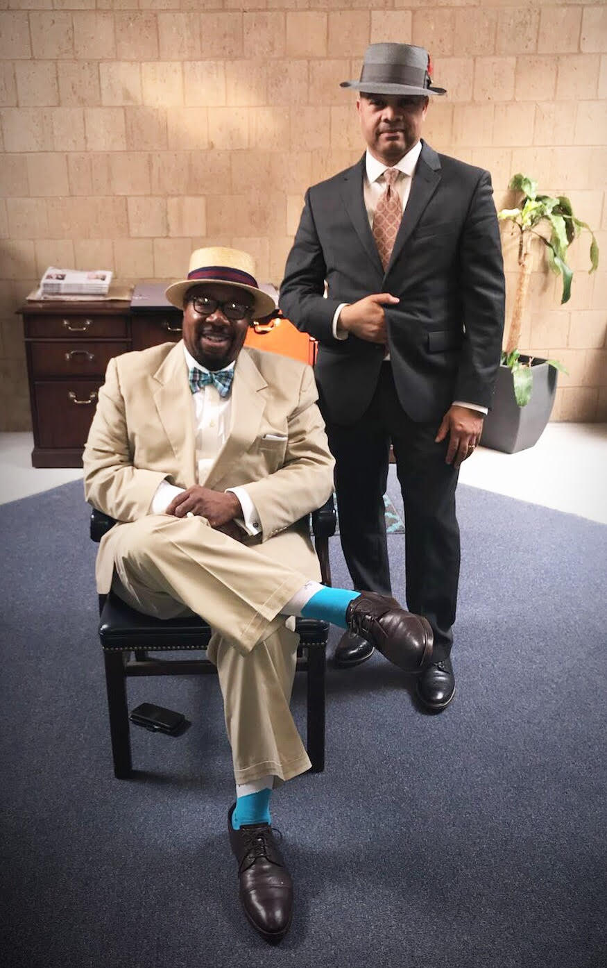 BBA President and Chief Relationship Officer Roby Williams (seated) with Mark Yates.