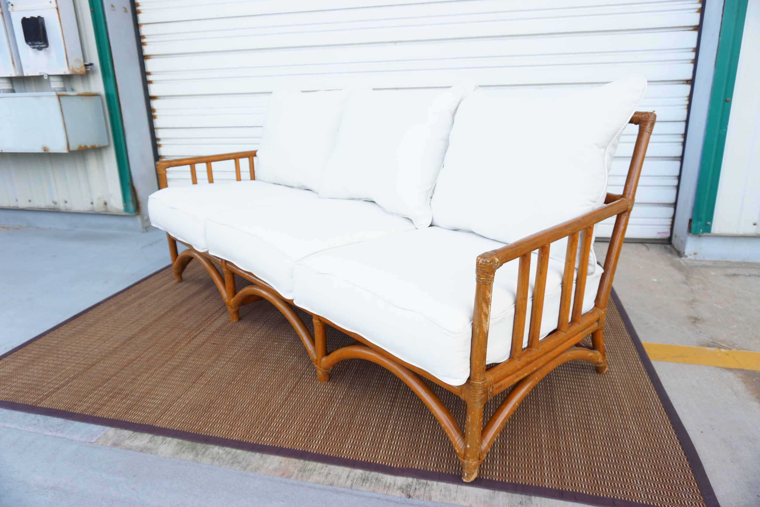 Outdoor Rattan In White