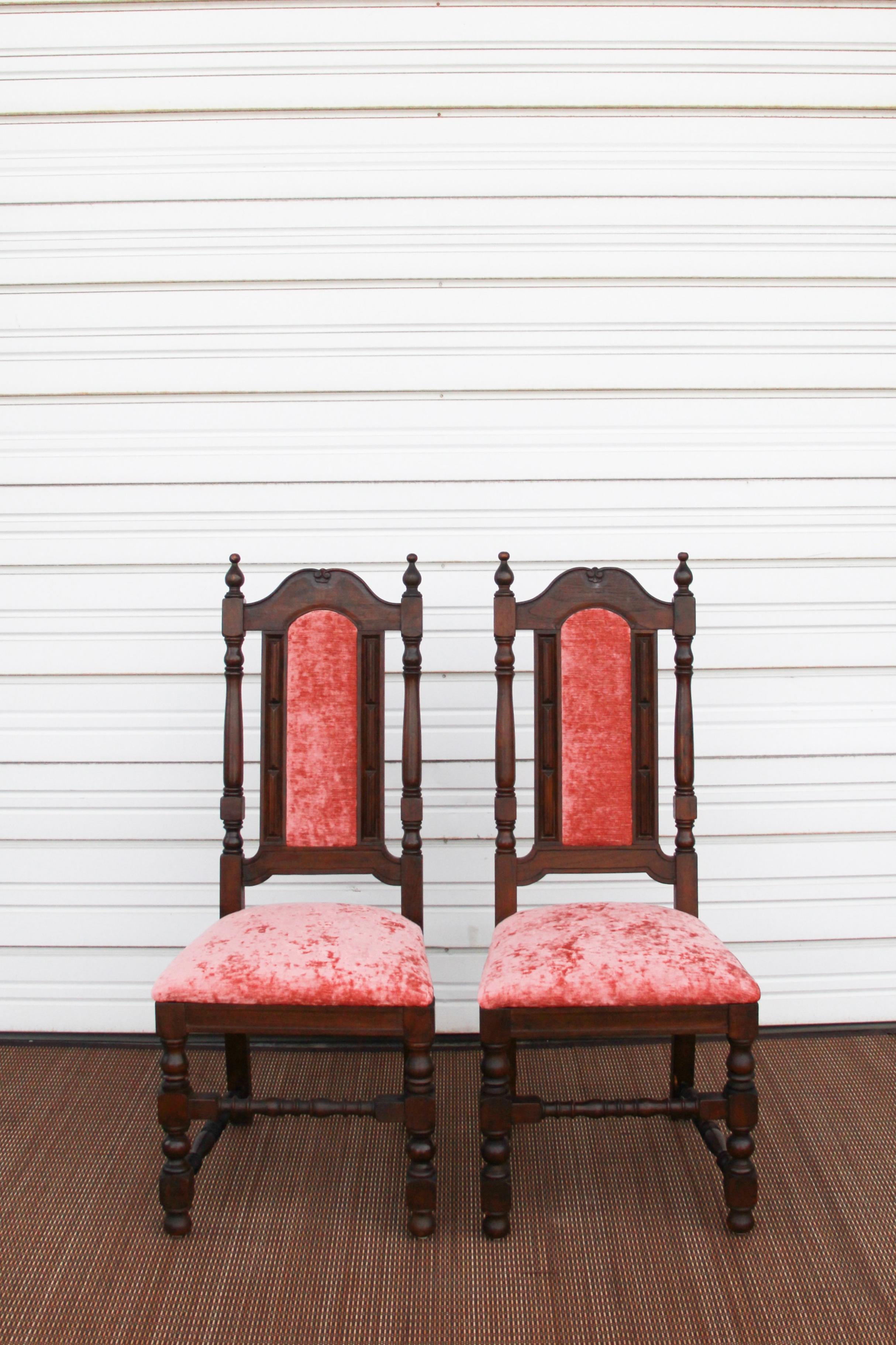 Pink Mahogany Chairs