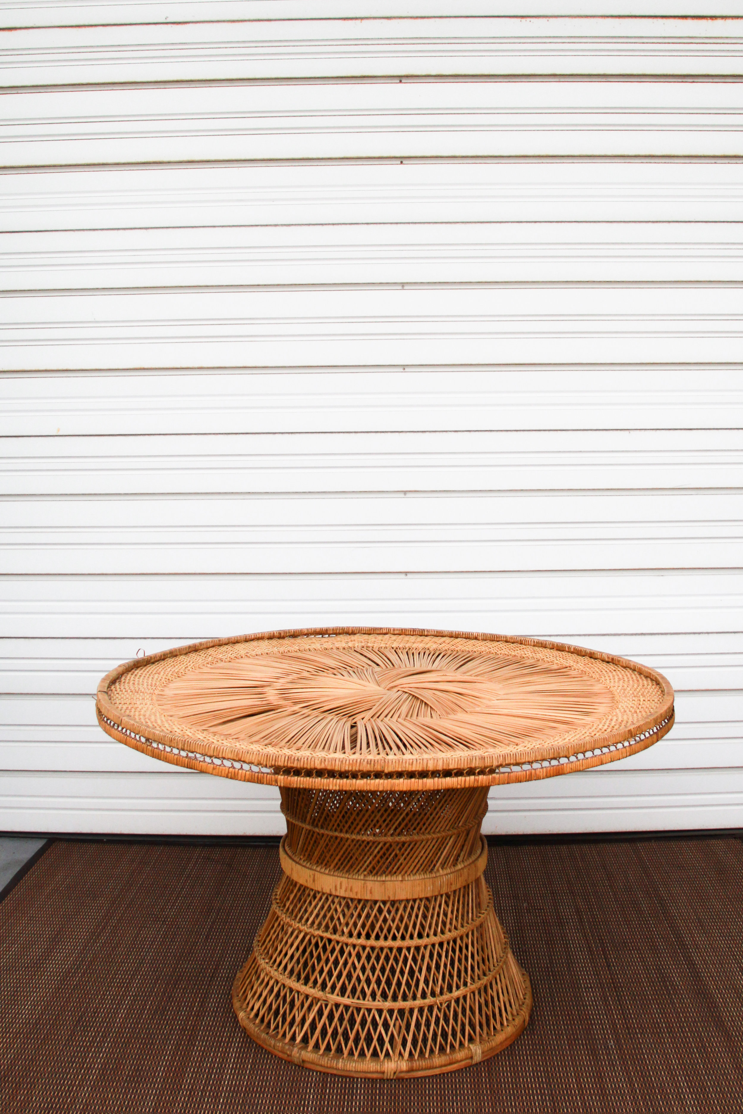 Wicker Round Table