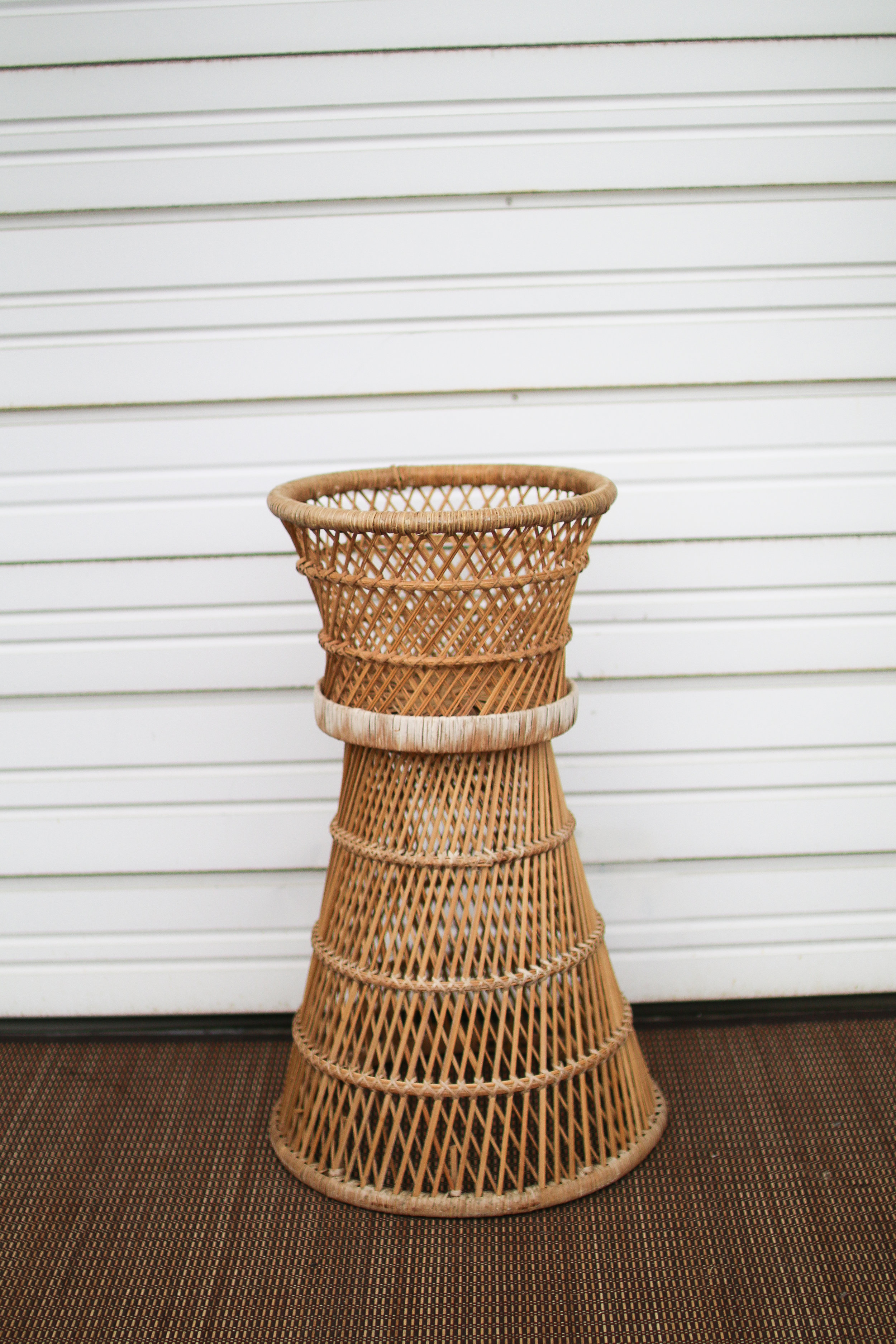 Tall Wicker Planter/Cake Table Bottom