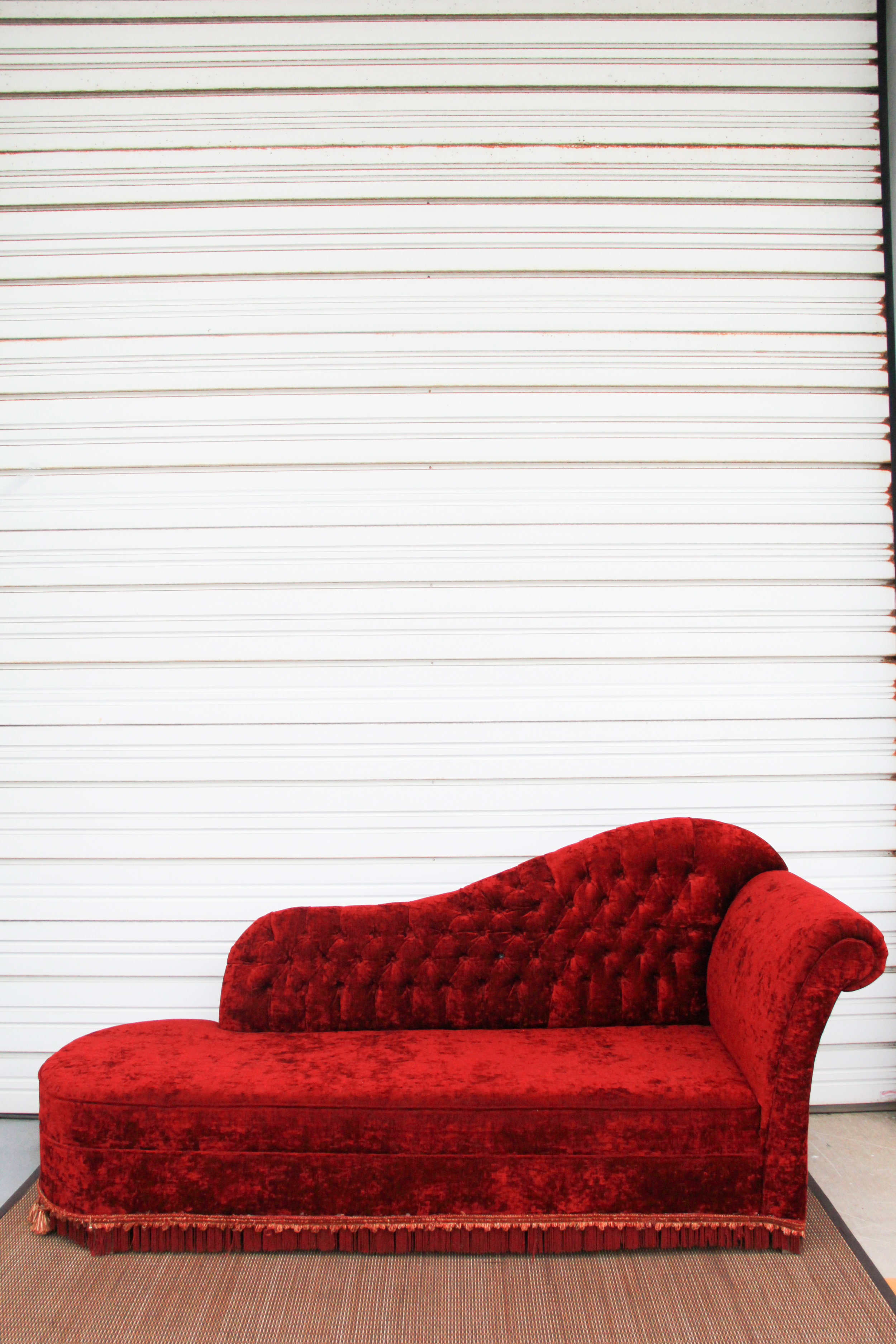 Red Fainting Couch