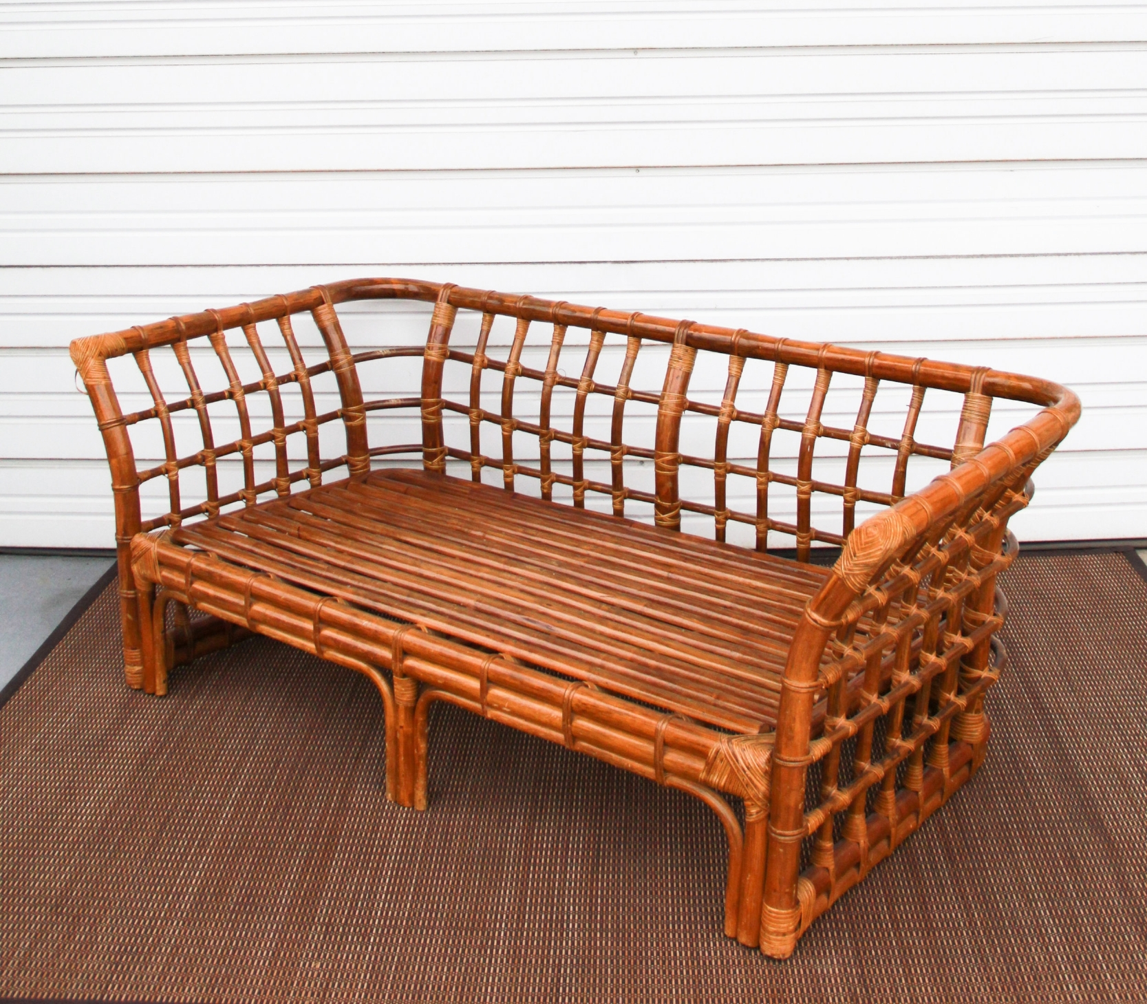 Bamboo Loveseat + Chair