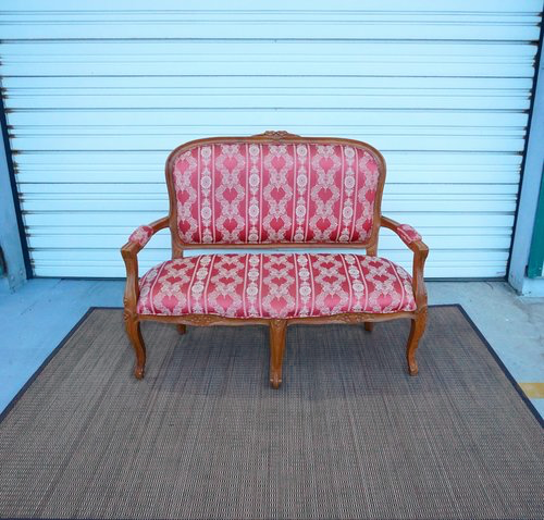 Antique Red Settee