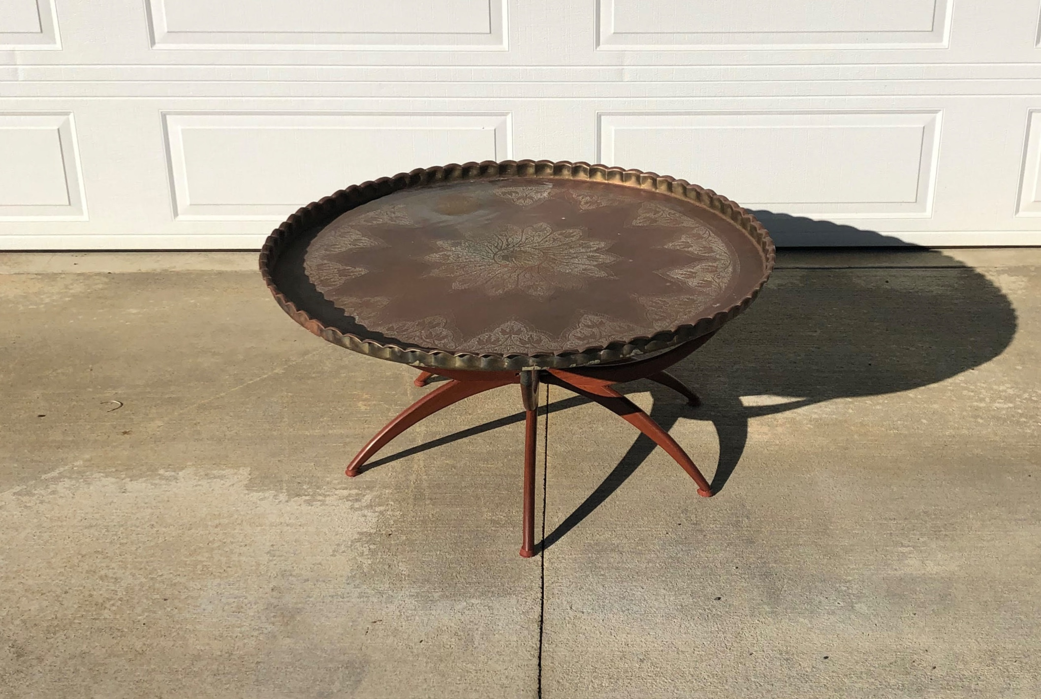 Brass Tray Table XL