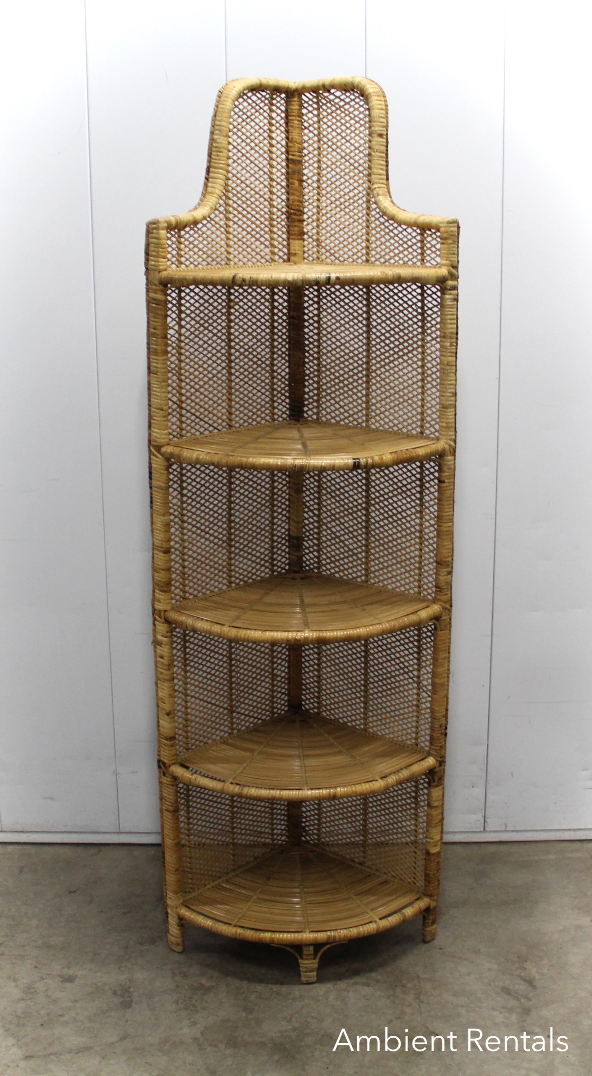 Corner Wicker Shelf