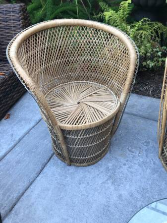 Wicker Accent Chair (Natural)