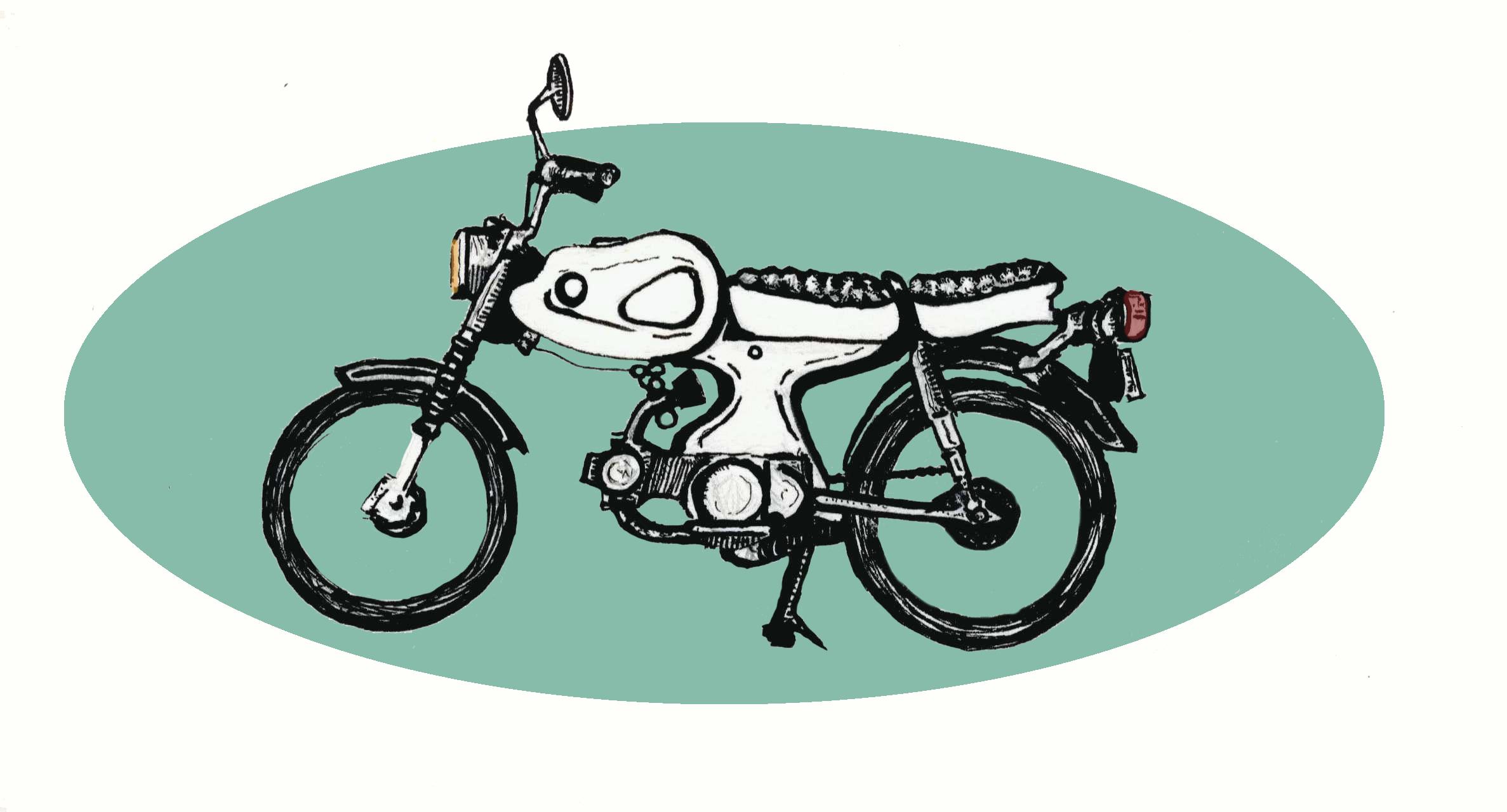 """Ride""  //  for DIY bodyshop concept  //  ink and digital color  //  2016"
