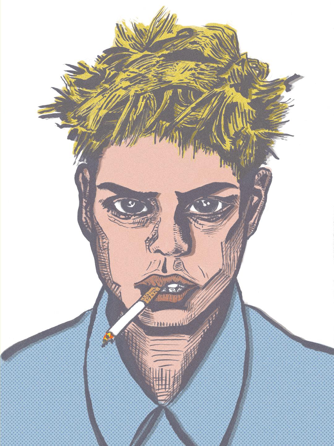 Portrait  //  brush pen, digital  //  January 2018