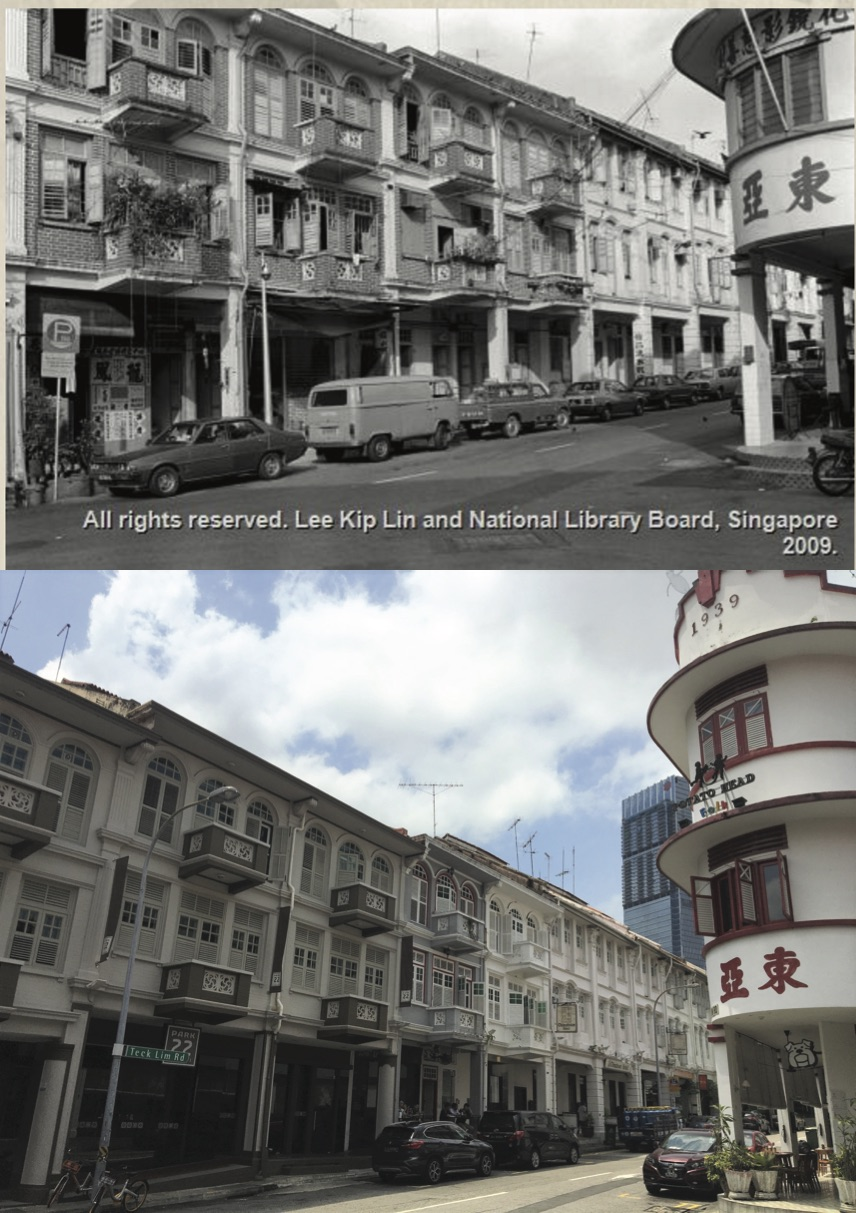 This row of shophouses used to house a Chinese calligraphy and laundry shop in addition to brothels. Today, this stretch of shophouses have transformed into boutique hotels and restaurants. *Photo credit: National Library Board Singapore