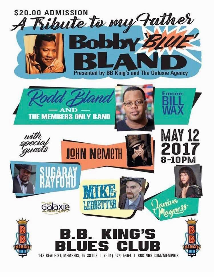 Click to listen: Beale Street Caravan - A Tribute to Bobby Blue Bland - June 7, 2017