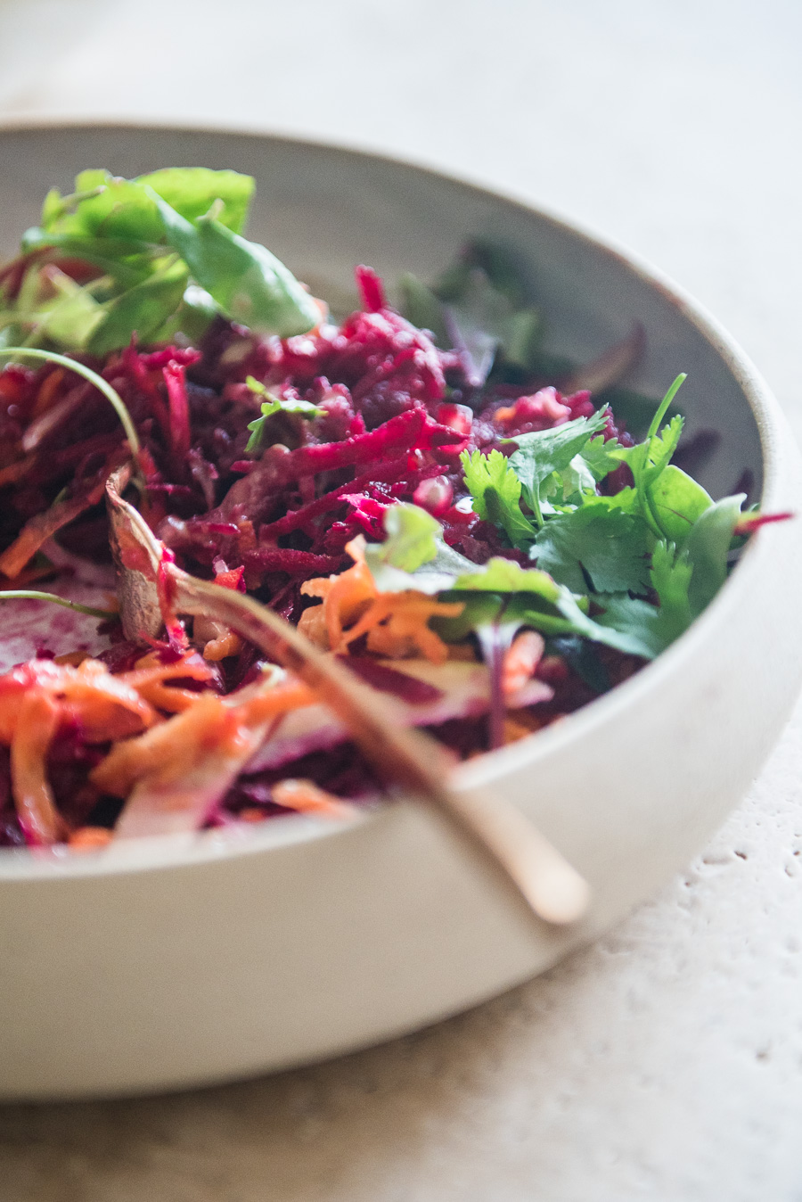 Beet Carrot Apple Salad with Date Vinaigrette