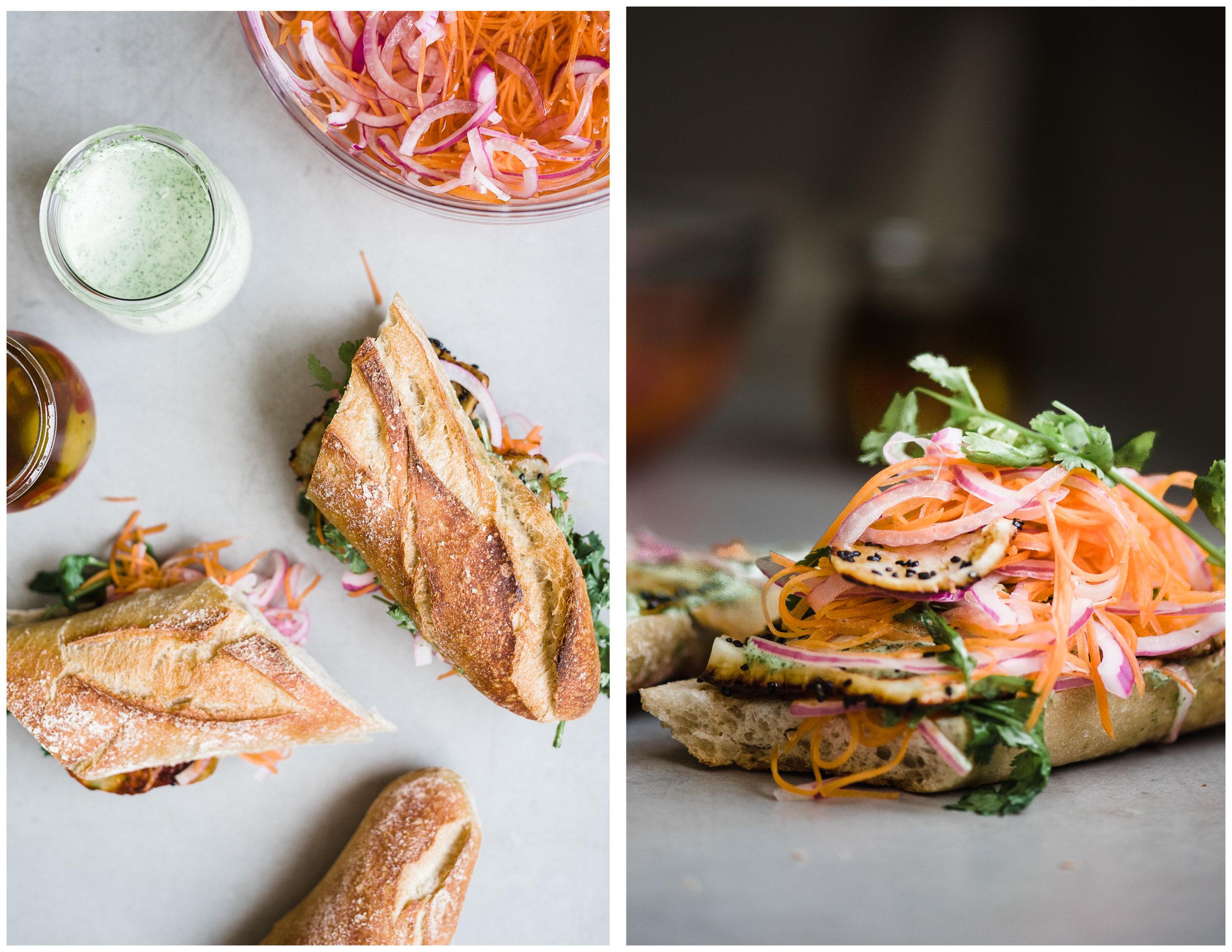 Halloumi Banh Mi Sandwich