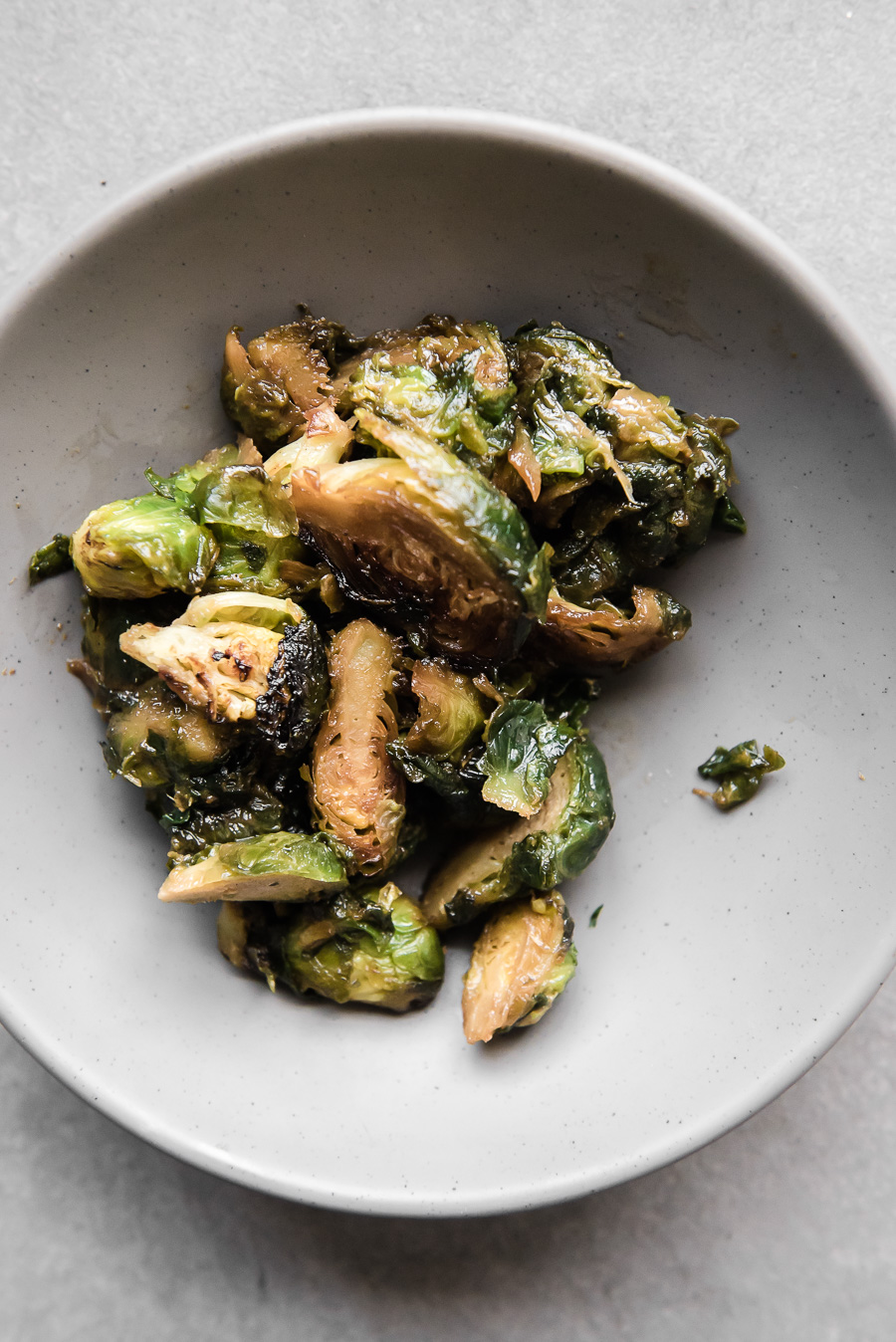 Miso Maple Roasted Brussels Sprouts