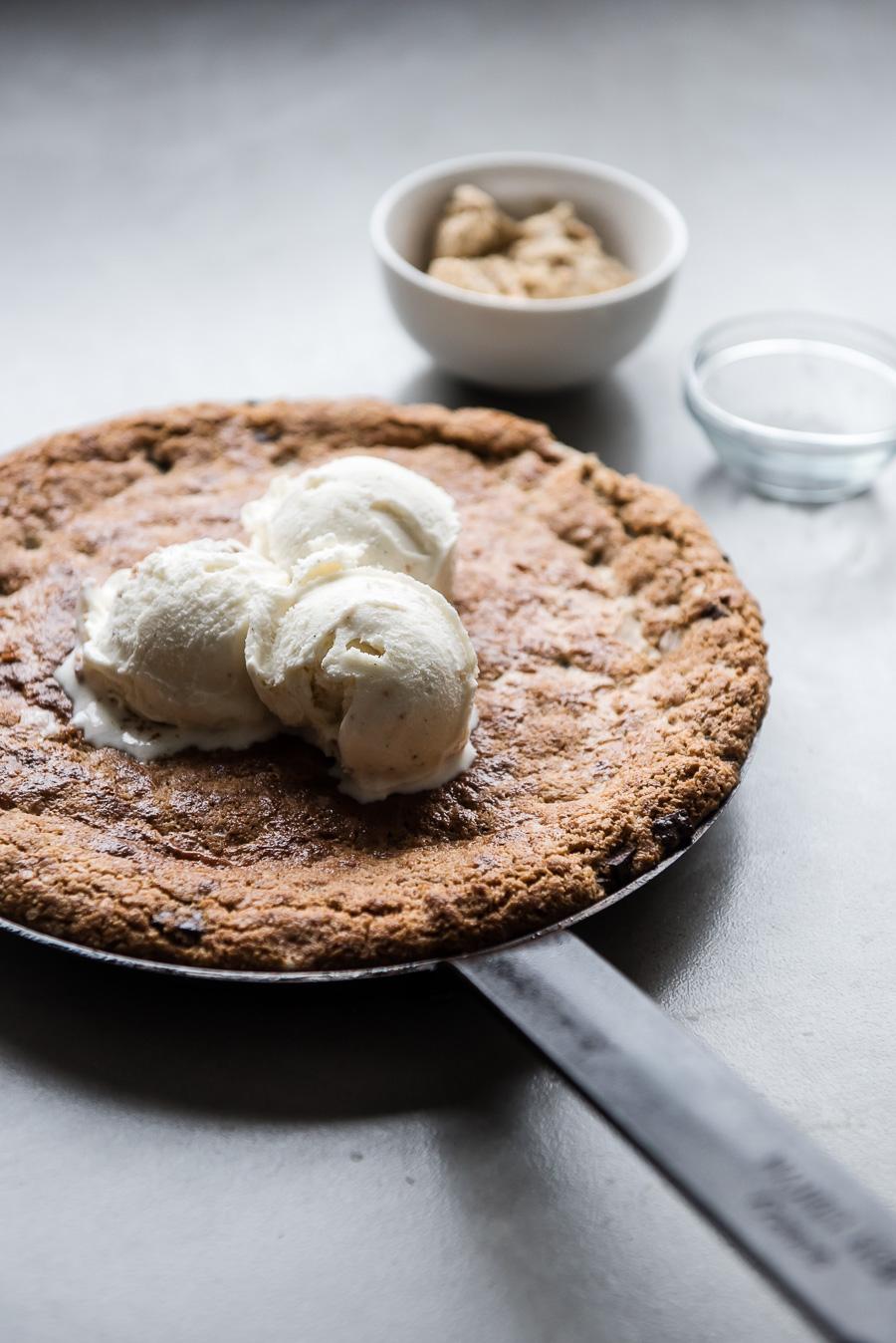 Halva Chocolate Chip Skillet Cookie