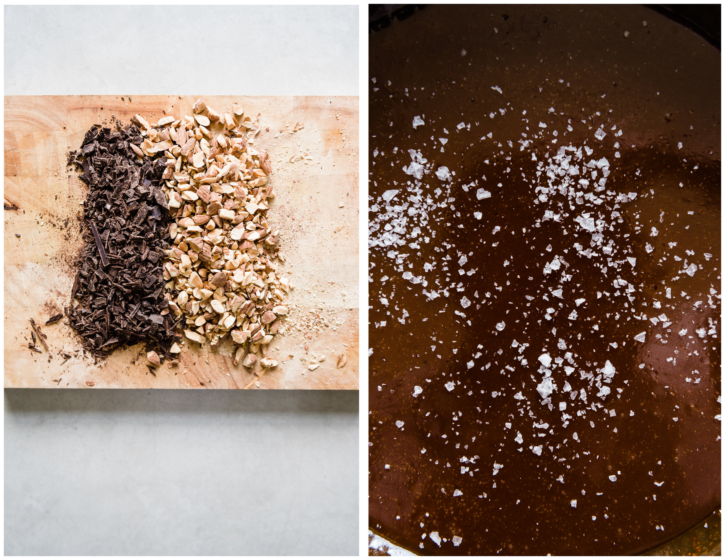 Salted Caramel Ice Cream with Chocolate Chunks & Almonds | Gather a Table