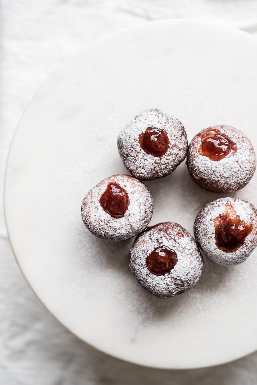 Sufganiyot: Israeli Doughnuts with Jam or Miso Caramel | Gather a Table