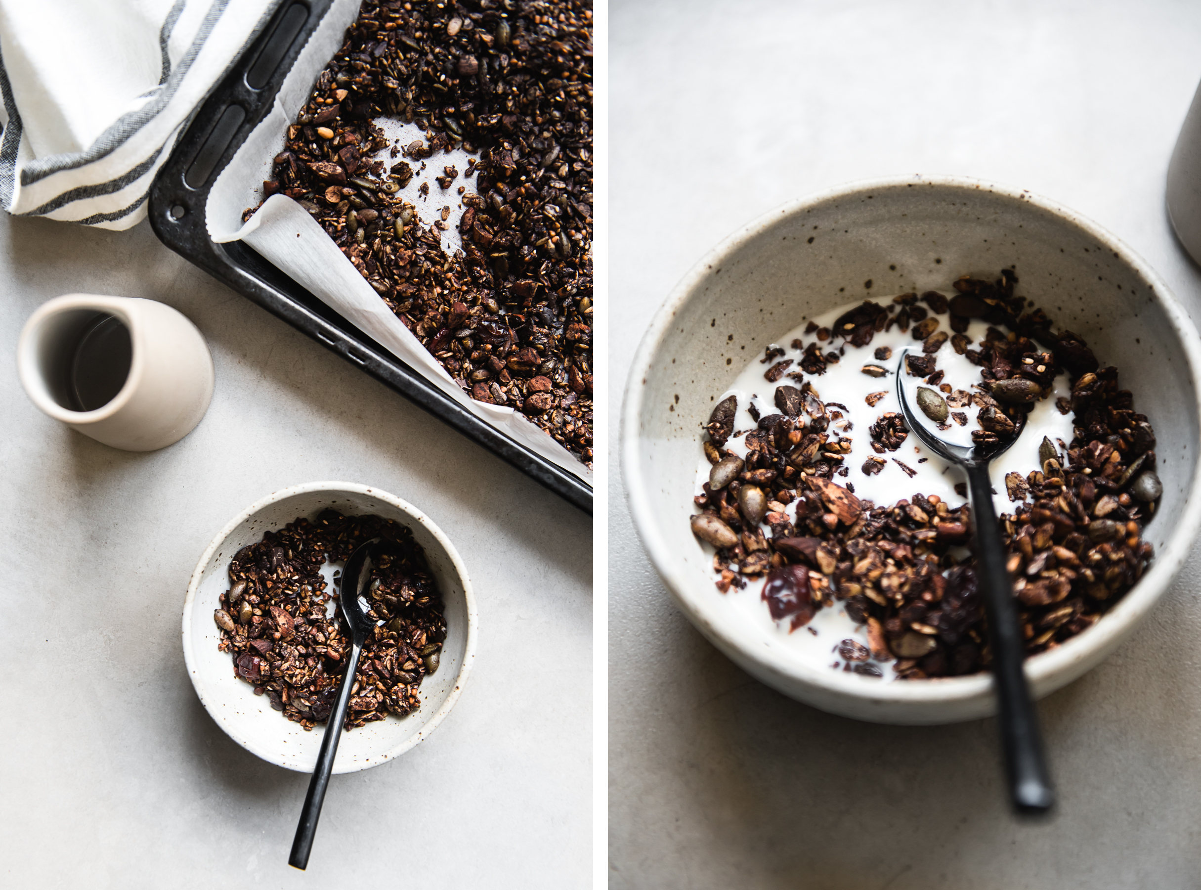 Dark Chocolate Buckwheat Granola | Gather a Table