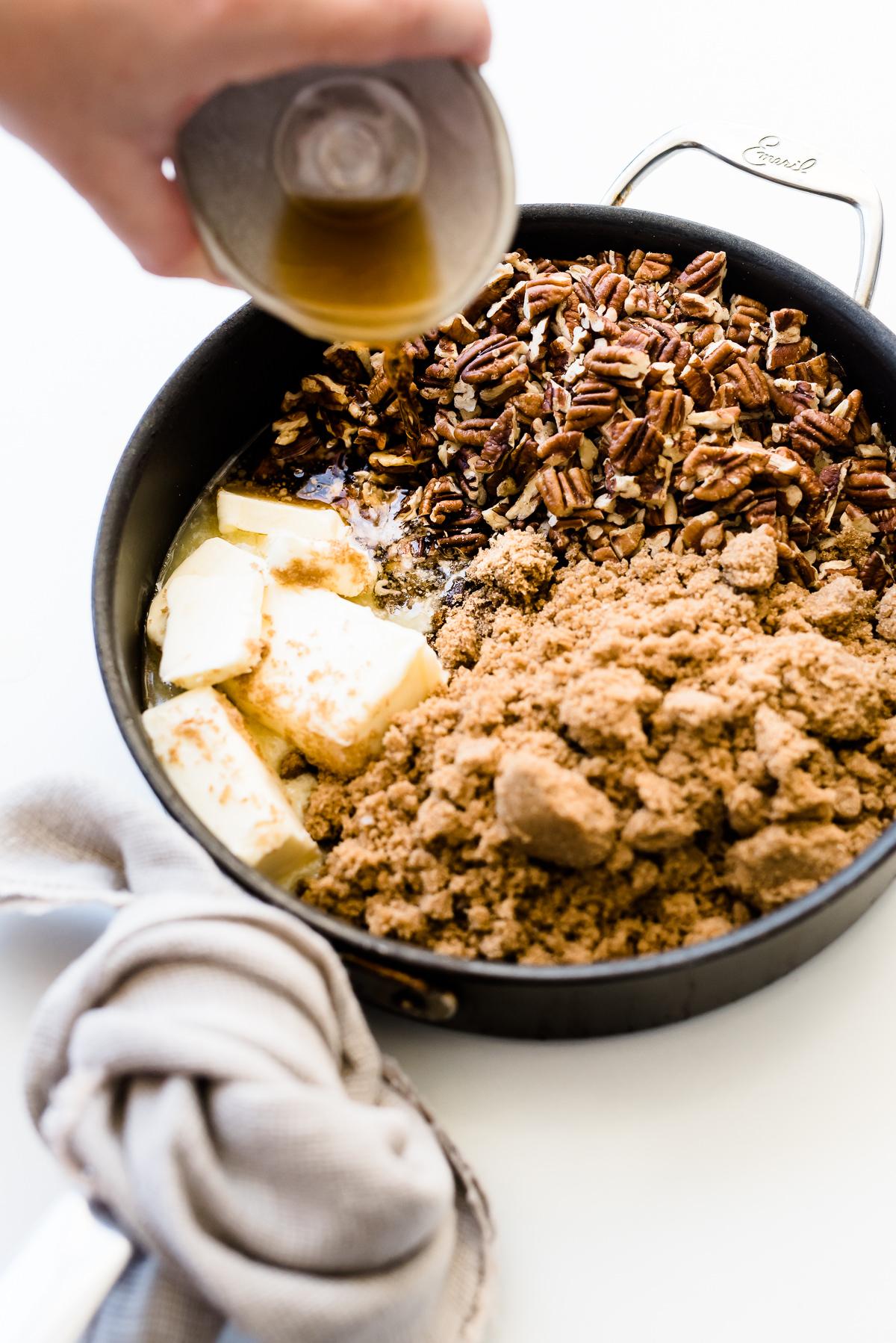 Pecan Brittle Mascarpone Cheesecake | Gather a Table