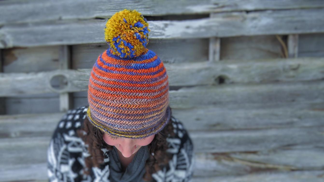 Herringbone Hat by Kelly McClure