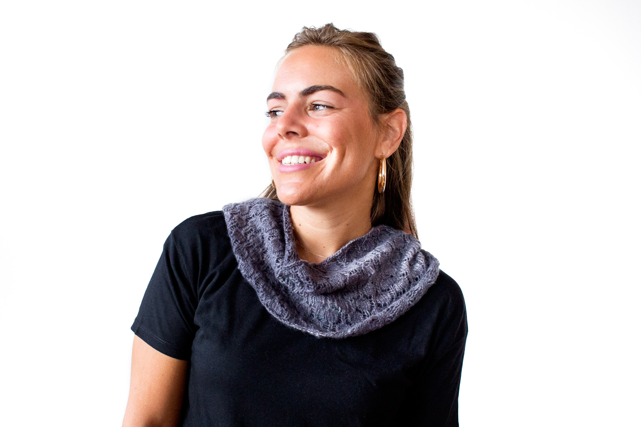Dot Lace Cowl by Catherine Salter Bayar