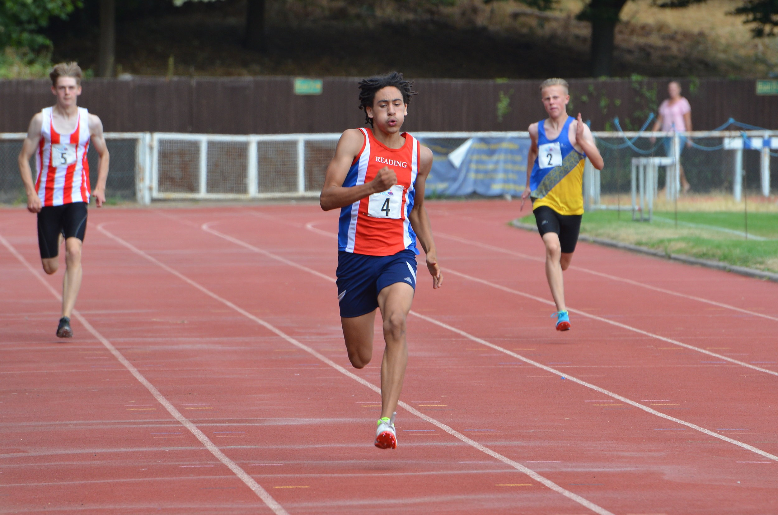 Reuben Henry-Daire equals the 35 year old U15 boys 200m club record in 23.1 secs